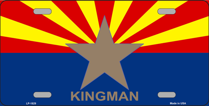Kingman Arizona State Flag Metal Novelty License Plate