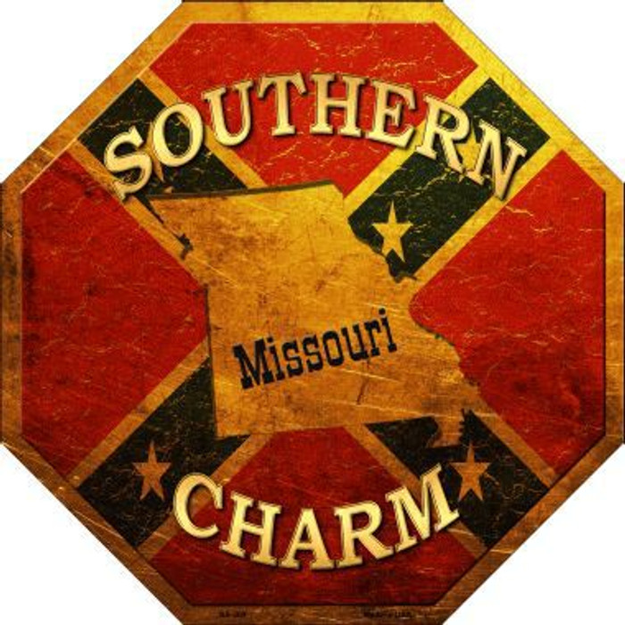 Southern Charm Missouri Metal Novelty Stop Sign