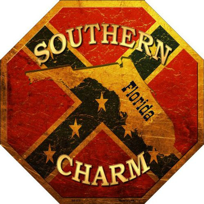 Southern Charm Florida Metal Novelty Stop Sign