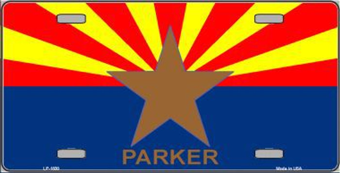 Parker Arizona State Flag Metal Novelty License Plate