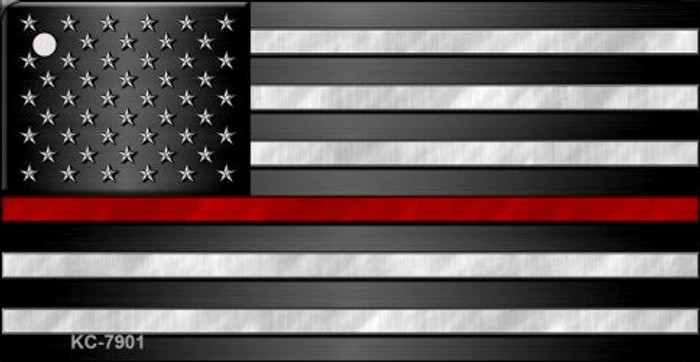 American Flag Thin Red Line Novelty Key Chain