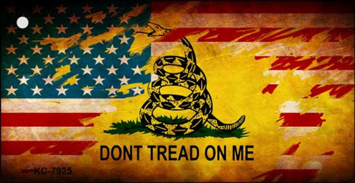Don't Tread On Me US Flag Novelty Key Chain