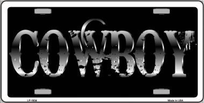 Cowboy Metal Novelty License Plate
