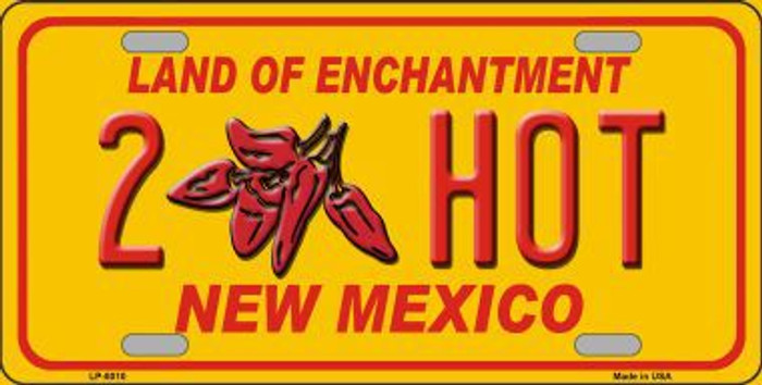 New Mexico 2 Hot Novelty Metal License Plate