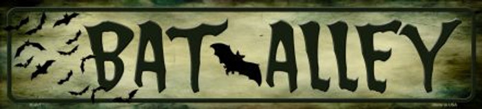 Bat Alley Novelty Metal Small Street Sign