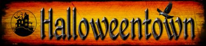 Halloweentown Novelty Metal Small Street Sign