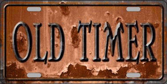 Old Timer Novelty Metal License Plate