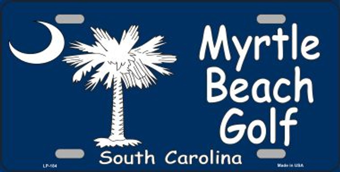 Myrtle Beach Golf Metal Novelty License Plate