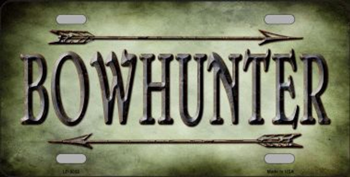 Bowhunter Novelty Metal License Plate