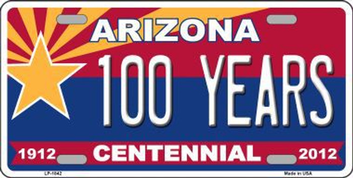 Arizona Centennial 100 Years Metal Novelty License Plate