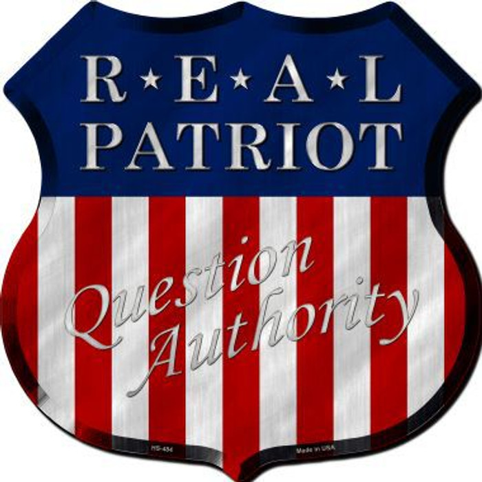 Real Patriot Metal Novelty Highway Shield