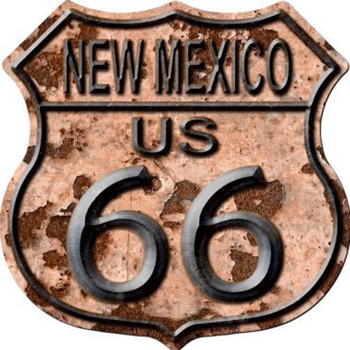 New Mexico Route 66 Rusty Metal Novelty Highway Shield