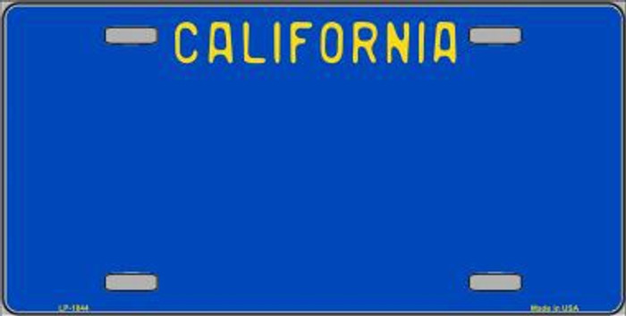 California Blue State Background Metal Novelty License Plate
