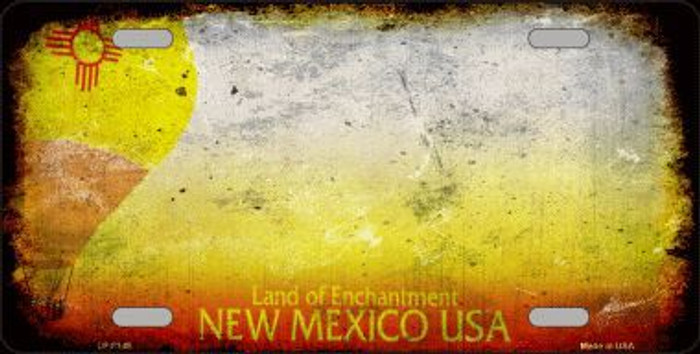New Mexico State Background Rusty Novelty Metal License Plate