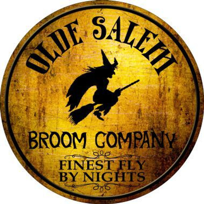 Salem Broom Company Novelty Metal Circular