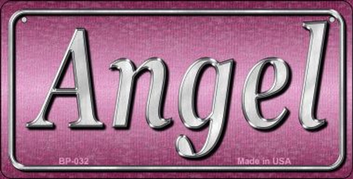 Angel Novelty Metal Bicycle License Plate