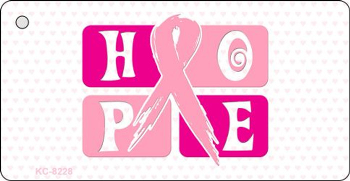 Hope Breast Cancer Ribbon Novelty Key Chain