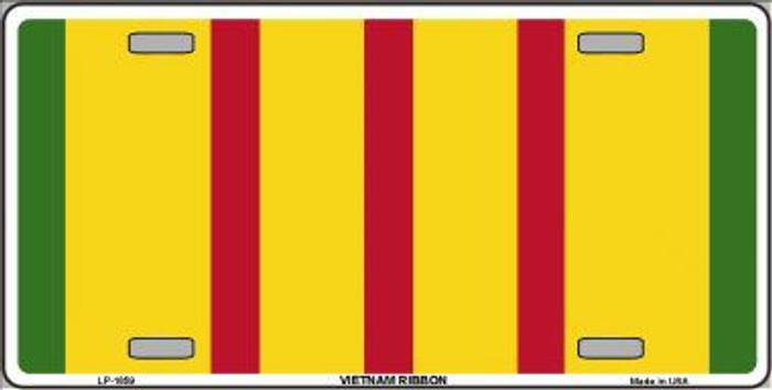 Vietnam Ribbon Metal Novelty License Plate