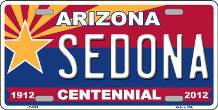 Arizona Centennial Sedona Metal Novelty License Plate