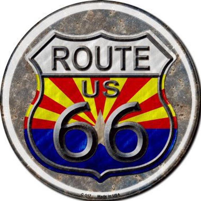 Arizona Route 66 Novelty Metal Circular Sign C-517
