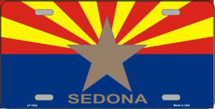 Sedona Arizona State Flag Metal Novelty License Plate