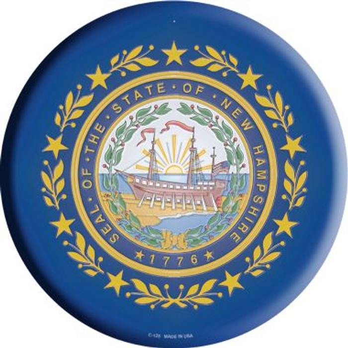 New Hampshire State Flag Metal Circular Sign