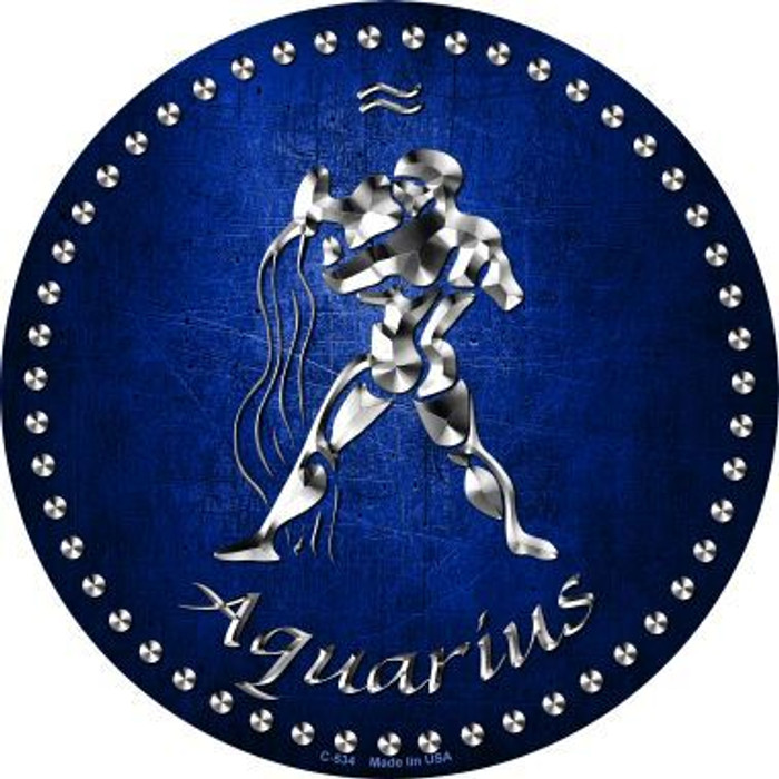 Aquarius Novelty Metal Circular Sign