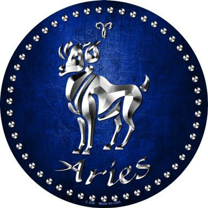Aries Novelty Metal Circular Sign