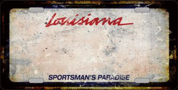 Louisiana Sportsmans Palace Rusty Novelty Metal License Plate
