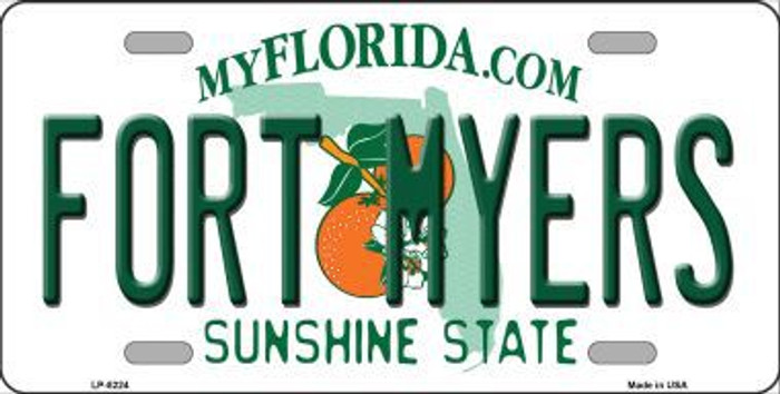 Fort Myers Florida Novelty Metal License Plate