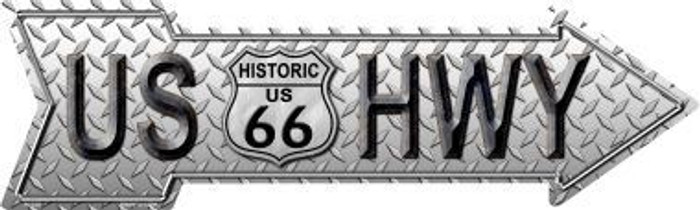 Diamond US Highway Novelty Metal Arrow Sign