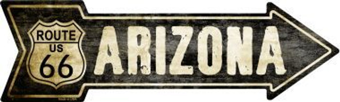 Vintage Route 66 Arizona Novelty Metal Arrow Sign