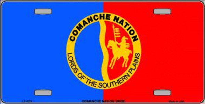 Comanche Nation Flag Metal Novelty License Plate
