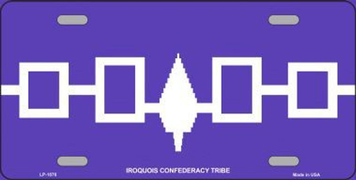Iroquois Confederacy Flag Metal Novelty License Plate