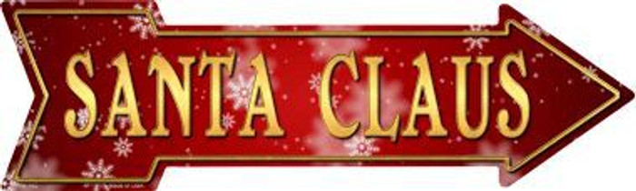 Santa Claus Novelty Metal Arrow Sign