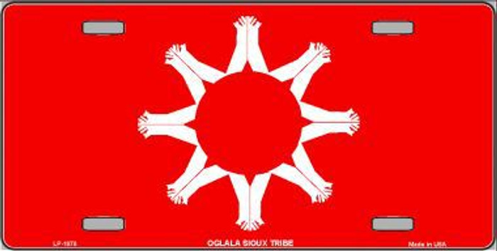 Oglala Sioux Tribe Flag Metal Novelty License Plate