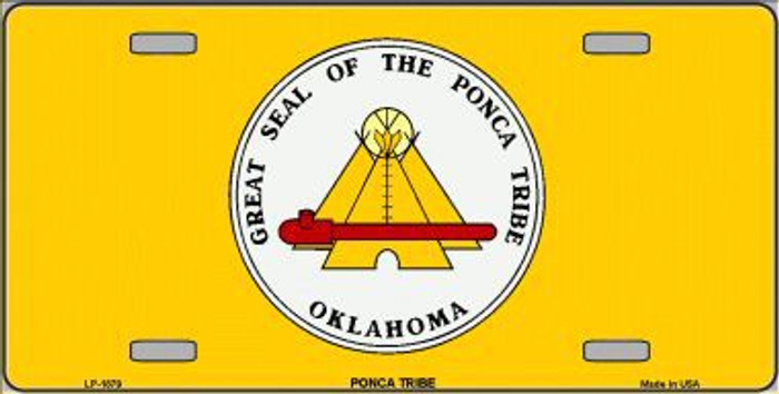 Ponca Tribe Flag Metal Novelty License Plate