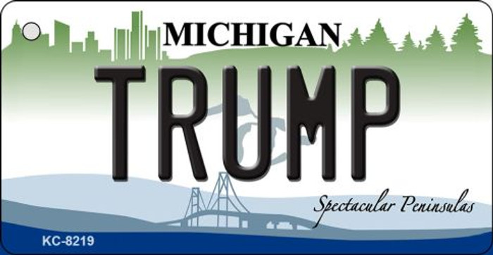 Trump Michigan Novelty Key Chain