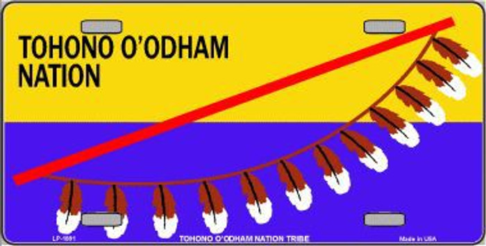 Tohono O'odham Flag Metal Novelty License Plate