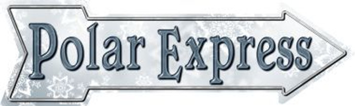 Polar Express Novelty Metal Arrow Sign