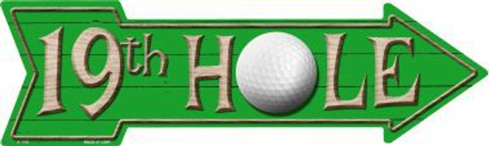 19th Hole Novelty Metal Arrow Sign