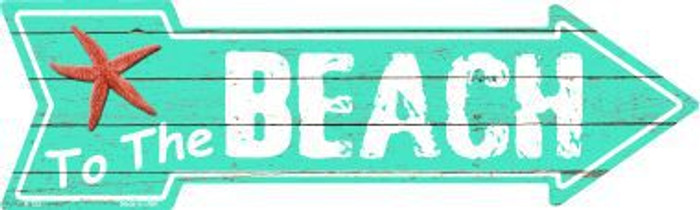 To The Beach Novelty Metal Arrow Sign