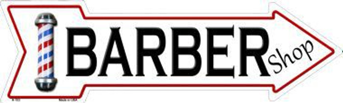 Barber Shop Novelty Metal Arrow Sign