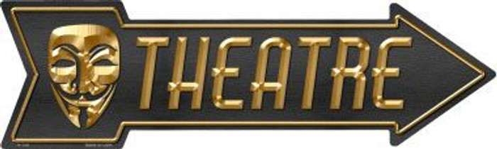 Theatre Novelty Metal Arrow Sign