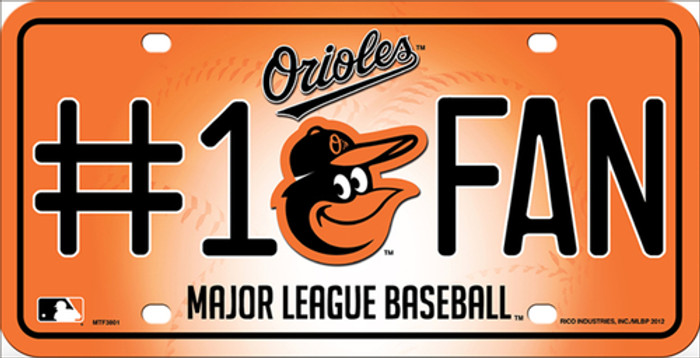 Baltimore Orioles Fan Metal Novelty License Plate