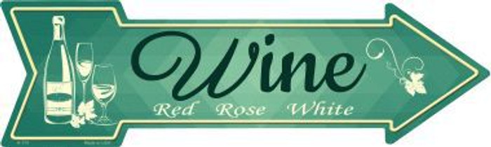 Wine Novelty Metal Arrow Sign