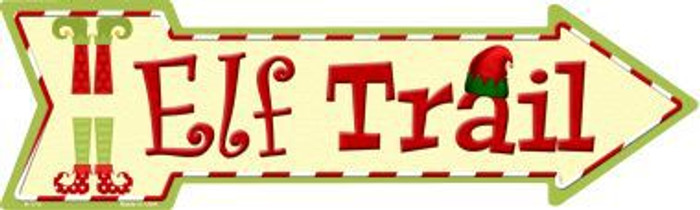 Elf Trail Novelty Metal Arrow Sign