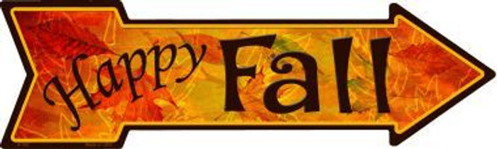 Happy Fall Novelty Metal Arrow Sign A-182