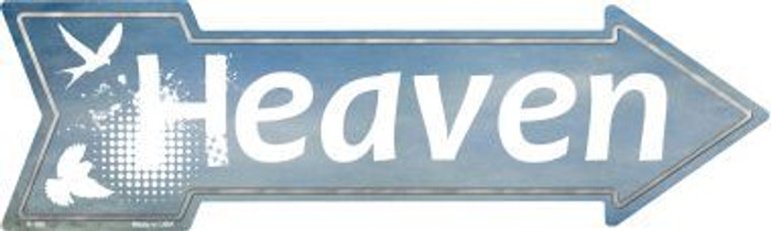Heaven Novelty Metal Arrow Sign