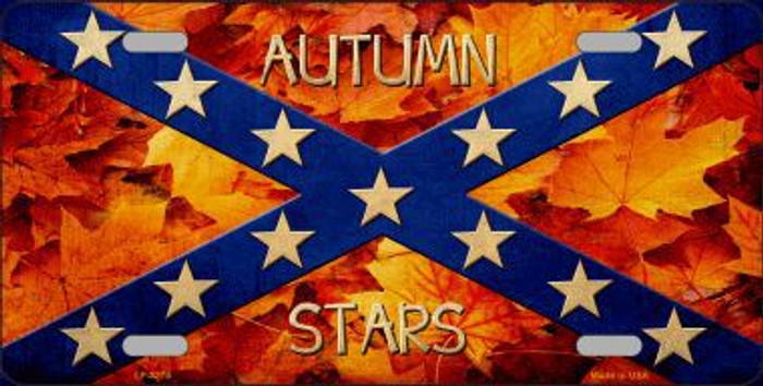 Autumn Stars Novelty Metal License Plate